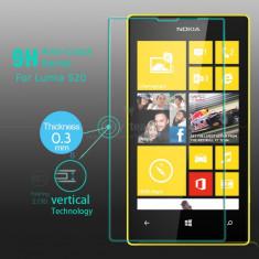 Super Folie Protectie Profesionala Antisoc Nokia Lumia 520 525 din Sticla Securizata Temperata dedicata - Geam securizat - Tempered Glass - Montaj - Folie de protectie Nokia, Anti zgariere