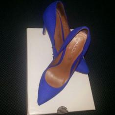 Pantofi Dama Stiletto, piele interior, exterior - Pantof dama Aldo, Marime: 37, Culoare: Albastru, Albastru