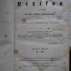 Lexicon german - latin, 1843, volumul 1 - Carte veche