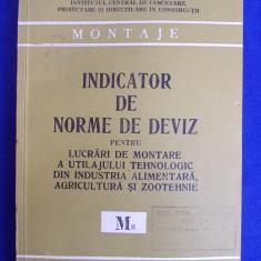 INDICATOR DE NORME DE DEVIZ PENTRU LUCRARI DE MONTARE A UTILAJULUI TEHNOLOGIC DIN INDUSTRIA ALIMENTARA, AGRICULTURA SI ZOOTEHNIE ( M6 ) - 1981 - Carti Constructii