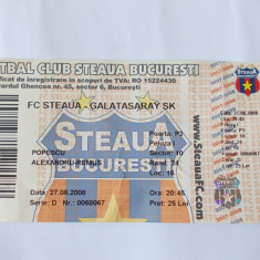 BILET MECI FOTBAL STEAUA -GALATASARAY 27.08.2008, turul 3 al calificarii in Uefa Champions League din 27.08.2008.
