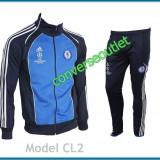 Trening ADIDAS CHELSEA LONDRA - Bluza si Pantaloni Conici - Pret Special - - Trening barbati, Marime: S, M, XL, XXL, Culoare: Alb, Bleu