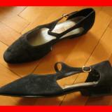 Sandale dama - Sandale / pantofi - dama, Nr. 35.5 (36), culoare neagra, folositi