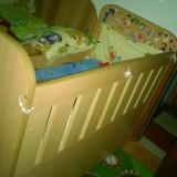 Patut lemn pentru bebelusi, 120x60cm - Patut copil