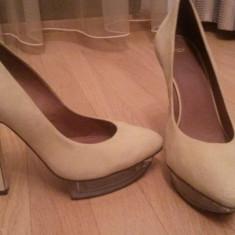 Pantofi asos - Pantofi barbati Asos, Marime: 39, Culoare: Galben, Piele intoarsa, Galben