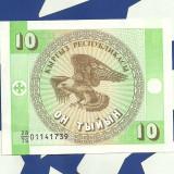 Bancnota Straine - KYRKYZIA-10 taian. aUNC