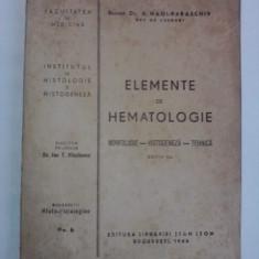 Elemente de hematologie - Dr. Docent A. Hagi Paraschiv / R2P5S