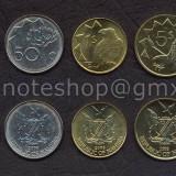 NAMIBIA SET COMPLET DE MONEDE 5+10+50 Cents +1+5+10 Dollars UNC