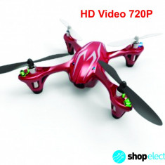 NOU! Drona Profesionala cu Camera Video HD 720P | Hubsan X4 H107C HD 2Mp | Mini Quadcopter 4D | Garantie 12 luni | Raza 100m | Tehnologie 2.4GHz+CADOU