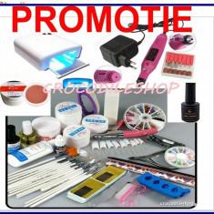KIT SET Unghii false BeautyUkCosmetics GEL UV MANICHIURA, LAMPA 36W.PILA ELECTRICA, PRIMER