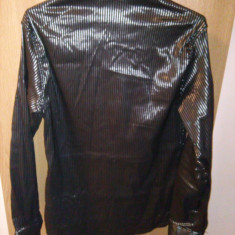 Camasa - Camasa barbati Zara, Culoare: Negru, Maneca lunga, Negru