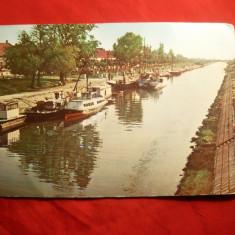 Ilustrata Timisoara -Canalul Bega cu nave 1963, circulata - Carte Postala Banat dupa 1918, Printata