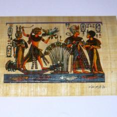 Papirus format carte postala - ZEI - EGIPT - original - NOU - 2+1 gratis pt produse la pret fix - CHA1318 - Arta din Africa