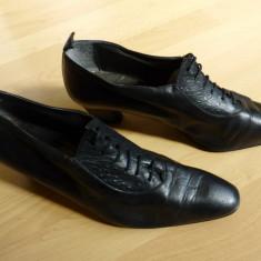 Pantofi dama - Pantofi piele naturala Exquisit; 26.3 cm talpic interior; stare excelenta