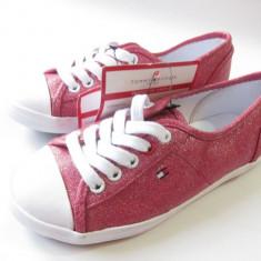 TENESI COPII TOMMY HILFIGER roz cu sclipici - MAS . 31 NOI !!! - Tenisi copii