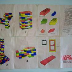 Joc vechi romanesc tip LEGO - VARIANT - Joc de constructii, perioada anilor ' 80 - Jocuri Seturi constructie, 8-10 ani, Unisex