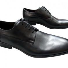 Pantofi barbati piele naturala Denis-2562-E-n, Marime: 41, Culoare: Negru