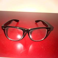 Ochelari cu lentile transparente. ramă neagră - Rama ochelari D&G, Unisex, Negru, Plastic, Rama intreaga, Fashion