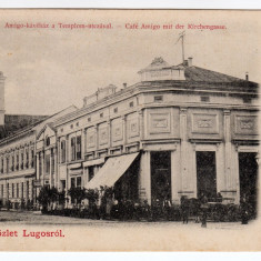 LUGOJ- LUGOS, CAFENEAUA AMIGO, BISERICA CATOLICA, CIRCULAT 1901