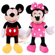 Plus Minnie si Mickey Disney - MICKEY MOUSE SI MINIE MOUSE DIN CLUB HOUSE MICKEY in VARIANTA MARE 90 CM