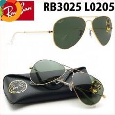 OCHELARI Ray Ban model aviator import Italia 3025 Verde - Ochelari de soare Ray Ban, Unisex, Pilot, Metal, Protectie UV 100%