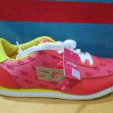 Adidasi dama - Adidas marca Goldigga culoare rosu cu galben marimea 38