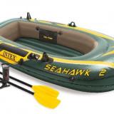 Barca Complet Echipata INTEX SEAHAWK 2 Persoane + Pompa + 2 Vasle 68347