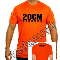 Tricou barbati - Tricou 20 cm records parazitii NOU!culoare din videoclip portocaliu! hip hop rap
