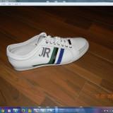 Adidasi john richmond itali - Adidasi barbati, Marime: 45, Culoare: Alb, Alb, Piele naturala