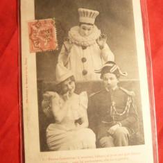 Ilustrata TCV Pierrot Avocat- Carnaval Costumat, foto A.Bergeret, Nancy, ambulanta 1942