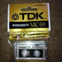 Micro caseta microcaseta microcassette TDK MC 60 panasonic sony lot 6 casete - Casetofon