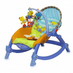Fotoliu balansoar pentru copii - Balansoar interior, 0-6 luni, Multicolor