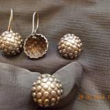 SET ARGINT925, CERCEI, INEL, PANDANTIV - Set bijuterii argint