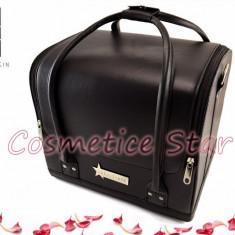Geanta cosmetice Fraulein38 Black geanta machiaj pensule geanta manichiura