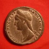 Sestert Sabina Augusta, revers Concordia, cositor - Copie veche - F.Rara ! - Moneda Antica