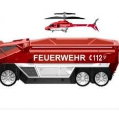 Masina pompieri + elicopter Silverlit HeliMission, schimb - Jucarie interactiva, Altele, Baiat, Rosu, Plastic