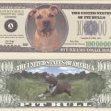Bancnota Straine - USA 1 Million Dollars Caine Pit Bull UNC