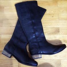 Asos Leather Boots – 200 Ron - Cizme dama Asos, Marime: 39, 40, Culoare: Negru, Marime: 39, Piele naturala, Negru