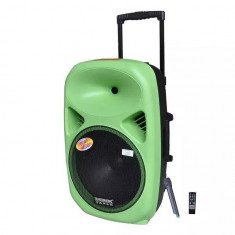 BOXA ACTIVA PROFESIONALA CU MIXER SI MP3 PLAYER STICK USB, CARD, ACUMULATOR, EFECTE VOCE, TELECOMANDA SI MICROFON WIRELESS, SUNET HI FI.