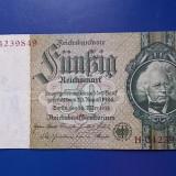 Bancnota 50 Marci Germania Deutsches Reich 1933 - circulata (2 poze), Europa