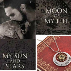 Pandantiv / Colier / Lantic - Film GAME OF THRONES - Khal & Khaleesi Moon