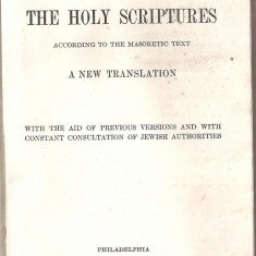 Biblia - (C5402) THE HOLLY SCRIPTURES, A NEW TRANSLATION, CAMBRIDGE, BIBLIE, SCRIPTURA, SECOND IMPRESSION, AUGUST, 1917