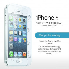 GEAM PROTECTIE Ecran IPHONE5. Geam SECURIZAT. FOLIE STICLA. Tempered Glass. Pachet SIGILAT. IPHONE - Geam carcasa, iPhone 5/5S