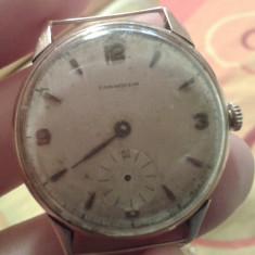Ceas Barbatesc Longines, Elegant, Mecanic-Automatic, Aur, Analog, 1940 - 1969 - Ceas Longines aur model anii 50, Longines vintage