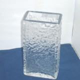 Vaza sticla - Vaza colectie semicristal - Aquarium - design Jiri Brabec 1968, Rudolfova Cehia
