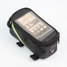 Port bagaj spatiu depozitare suport telefon borseta pentru bicicleta verde gri