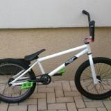 Vand bmx custom, cadru mirraco - Bicicleta BMX, 20 inch, Numar viteze: 1, Alb