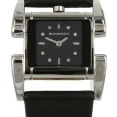 Ceas Romanson de dama cod RL1201 LW-BK - pret vanzare 359 lei; ceasul este nou, livrat in cutie si este insotit de garantie de 24 luni. - Ceas dama Romanson, Casual, Quartz, Inox, Piele, Analog