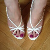 Sandale dama Nine West, Marime: 37, Alb - Sandale ivoire Nine West mas 37