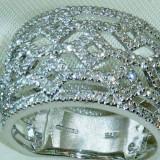 Inel diamant - Inel aur alb cu diamante